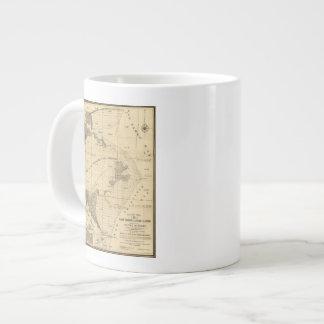 Salt marsh and tide lands giant coffee mug