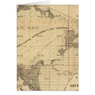 Salt marsh and tide lands greeting card