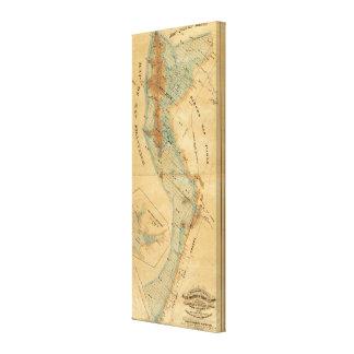 Salt marsh and tide lands map canvas print
