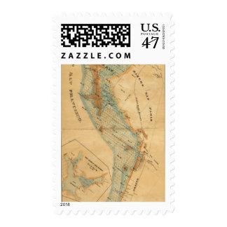 Salt marsh and tide lands map postage