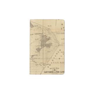 Salt marsh and tide lands pocket moleskine notebook