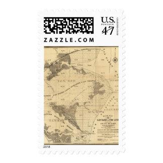 Salt marsh and tide lands postage stamp
