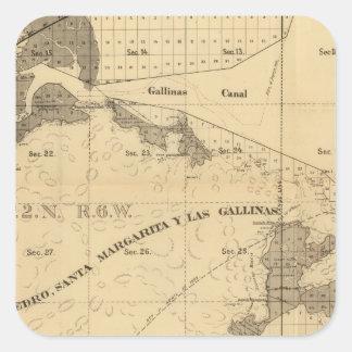 Salt marsh and tide lands square sticker
