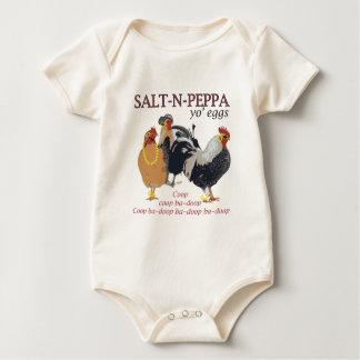 Salt-N-Pepper Chicken Coop Baby Bodysuit