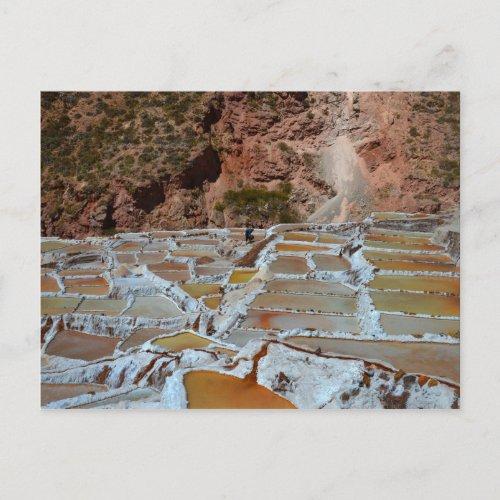 Salt Pans of Maras Peru Postcard