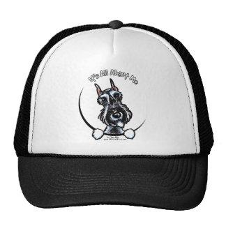 Salt Pepper Schnauzer IAAM Trucker Hat
