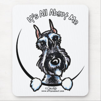 Salt Pepper Schnauzer IAAM Mouse Pad