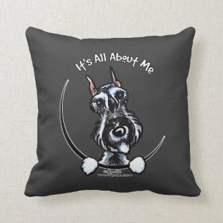 Salt Pepper Schnauzer IAAM Throw Pillow