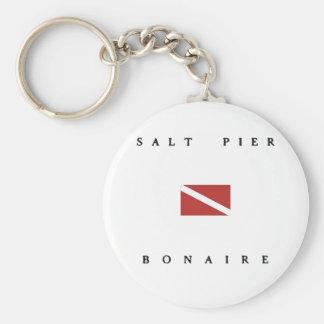 Salt Pier Bonaire Scuba Dive Flag Keychain