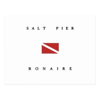 Salt Pier Bonaire Scuba Dive Flag Postcard