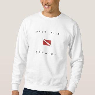 Salt Pier Bonaire Scuba Dive Flag Sweatshirt