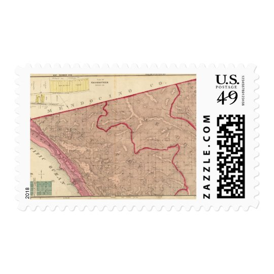 Salt Point, Mendocino, and Cloverdale Townships Postage