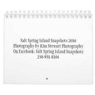 Salt Spring Island Snapshots 2016 Photo Calendar