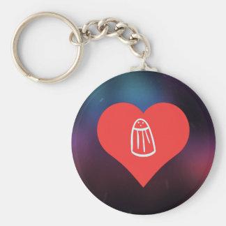 salt Symbol Basic Round Button Keychain