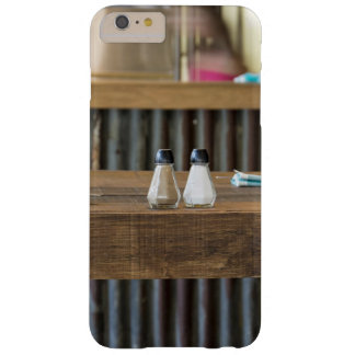 Salt Themed, Salt And Pepper Shakers Sit On A Wood Barely There iPhone 6 Plus Case