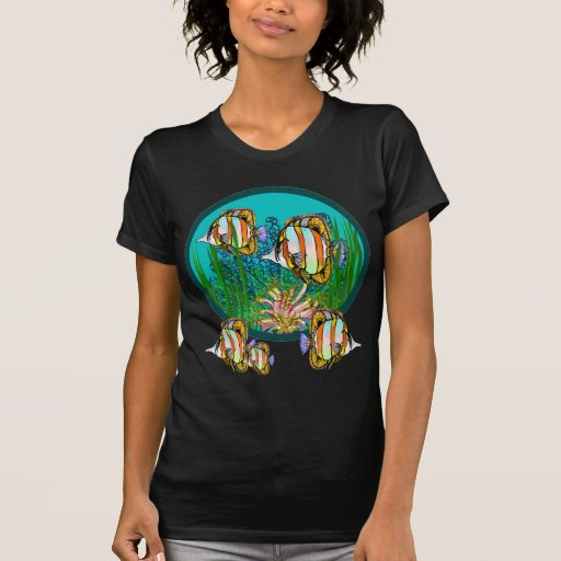 Salt Water Angelfish On a Coral Reef Shirts