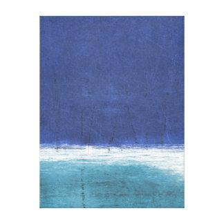 'Salt Water' Blue Abstract Art Canvas Print