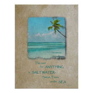 Salt Water Cure Tropical Beach Poster 2