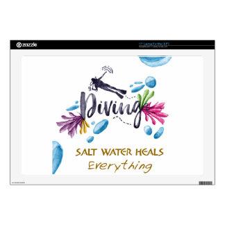 "SALT WATER HEALS Everything Skin For 17"" Laptop"
