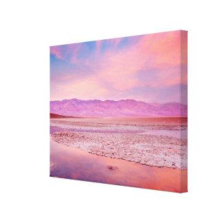Salt Water Lake Death Valley Canvas Print