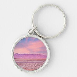 Salt Water Lake Death Valley Silver-Colored Round Keychain
