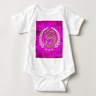 Salt water soothes the soul waves art in pink baby bodysuit