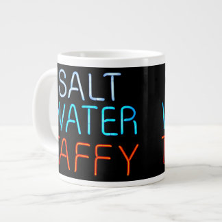 Salt Water Taffy Neon Sign Giant Coffee Mug