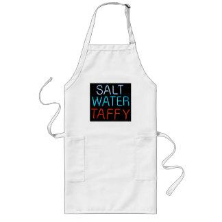 Salt Water Taffy Neon Sign Long Apron