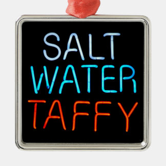 Salt Water Taffy Neon Sign Metal Ornament