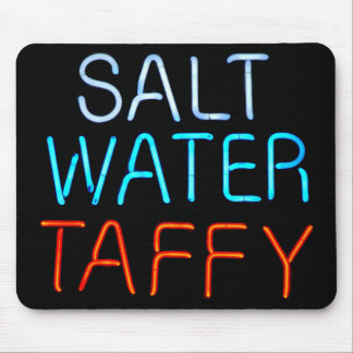 Salt Water Taffy Neon Sign Mouse Pad