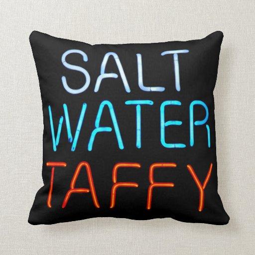 Salt Water Taffy Neon Sign Pillows