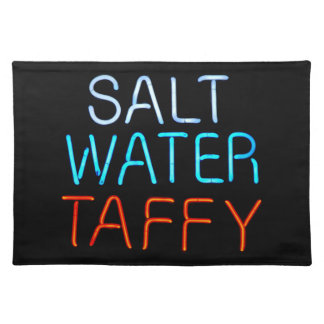 Salt Water Taffy Neon Sign Placemat