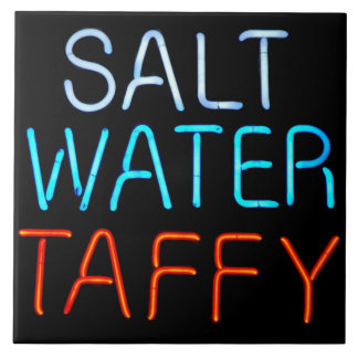 Salt Water Taffy Neon Sign Tile