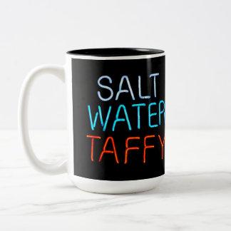 Salt Water Taffy Neon Sign Two-Tone Coffee Mug