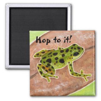 """""""Salta a él"""" el imán del recordatorio del froggy"""