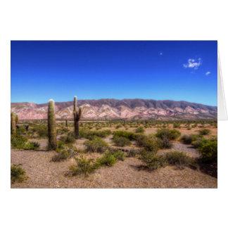 Salta Argentina Cactus Plants And Barren Hill Greeting Card