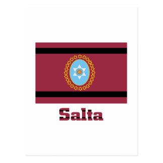 Salta flag with name postcard