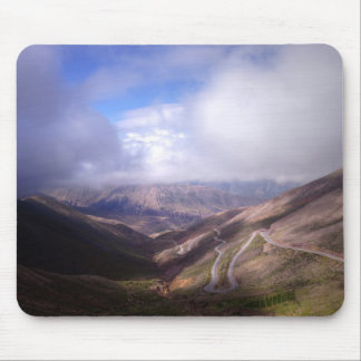 Salta Mountain Serpentine Road With Low Clouds Mouse Pad