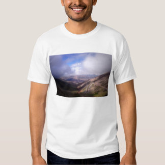 Salta Mountain Serpentine Road With Low Clouds T Shirt