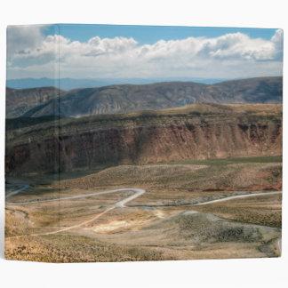 Salta Serpentine Road And Salt Flats In Distance Binder