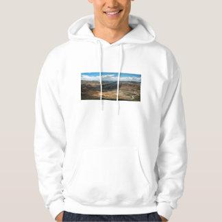 Salta Serpentine Road And Salt Flats In Distance Hoodie