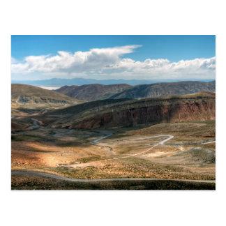Salta Serpentine Road And Salt Flats In Distance Postcard