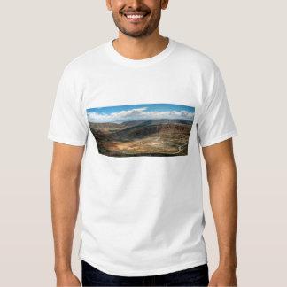 Salta Serpentine Road And Salt Flats In Distance T-shirt