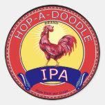 Salta una cerveza del Doodle IPA Pegatinas Redondas