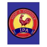 Salta una cerveza del Doodle IPA Tarjetas Postales