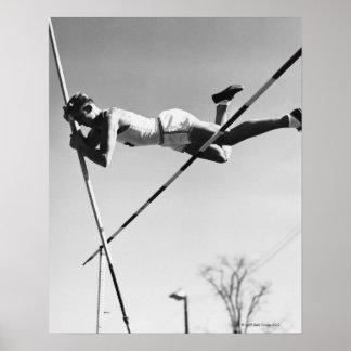 Saltador de poste de sexo masculino póster