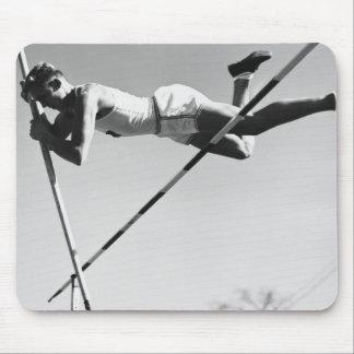 Saltador de poste de sexo masculino alfombrilla de ratones