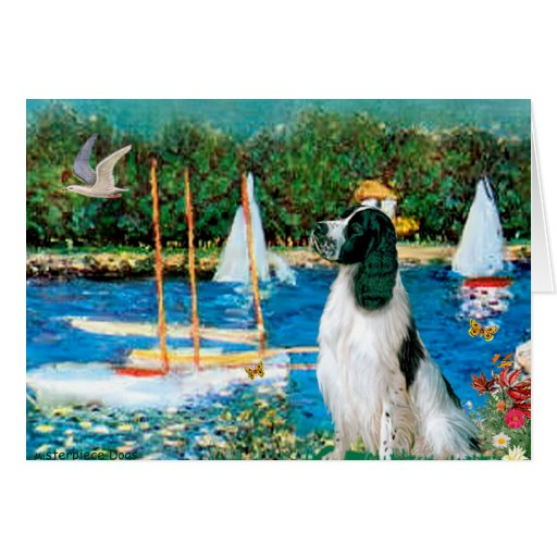 Saltador inglés 7 - veleros tarjeta de felicitación