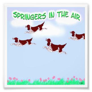 Saltadores en el aire arte con fotos