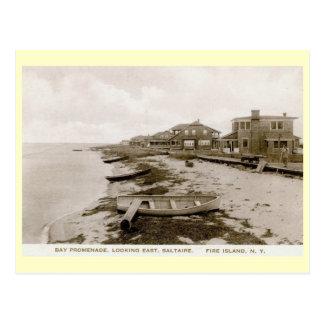 Saltaire, Fire Island, New York Vintage Postcard